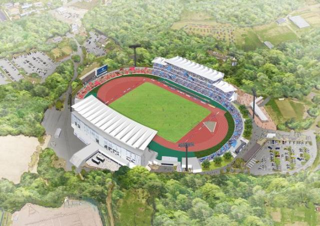 町田GIONスタジアム観客席増設後の俯瞰図